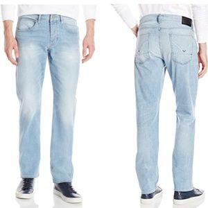 Hudson Byron Light Wash Straight Leg Jeans
